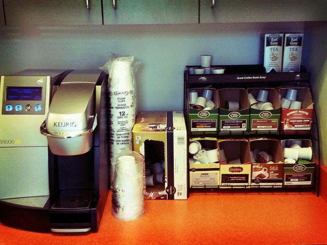new keurig machine coffee tastes like plastic