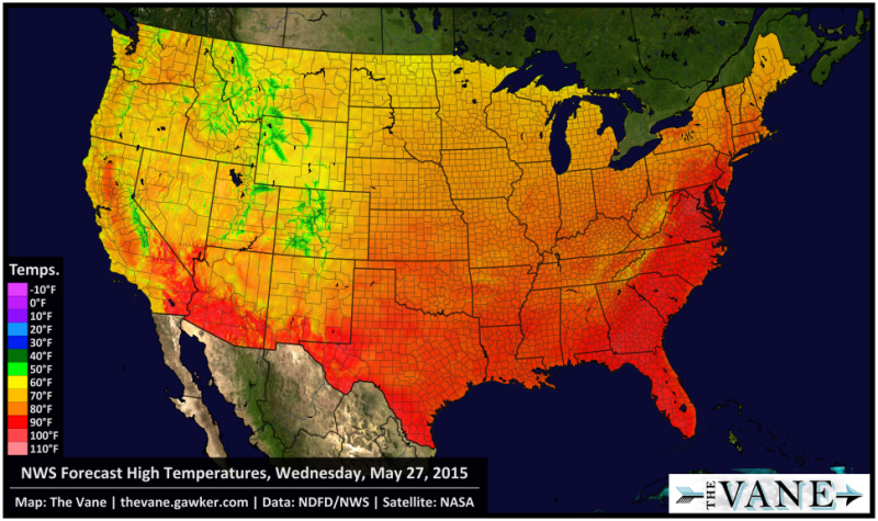 Happy Summer! Early Heat Wave to Bake Eastern U.S. Next Week
