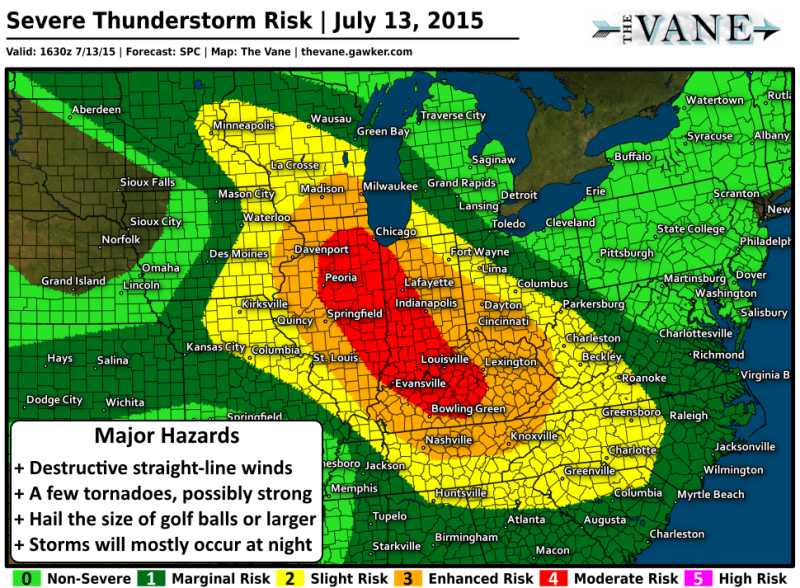 Chicago and Most of Midwest at Risk as Dangerous Severe Storms Develop