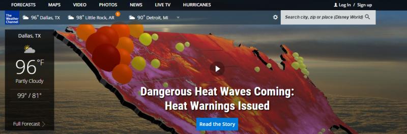 weathercom — The Vane