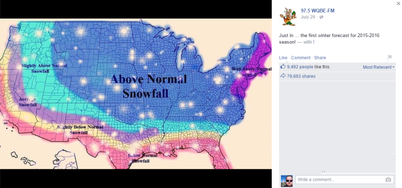 Stop Sharing Those Terrible Fake Winter Forecast Maps On Social Media