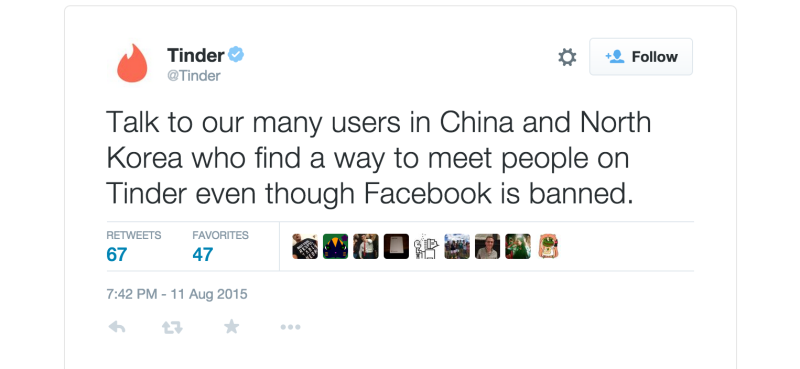 Tinder to <i>Vanity Fair</i>: Fuck You, North Koreans Love Us