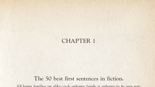 The 50 Best First Sentences in Fiction