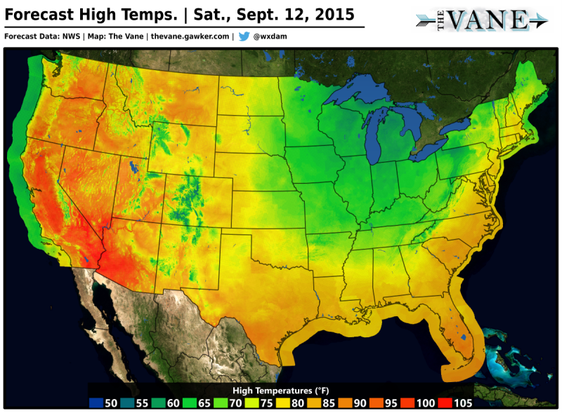 Extraordinarily Nice Weather on the Way for the Eastern US This