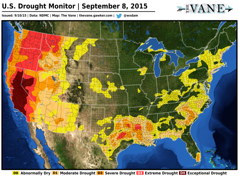 More Than Half of the United States Is Abnormally Dry or