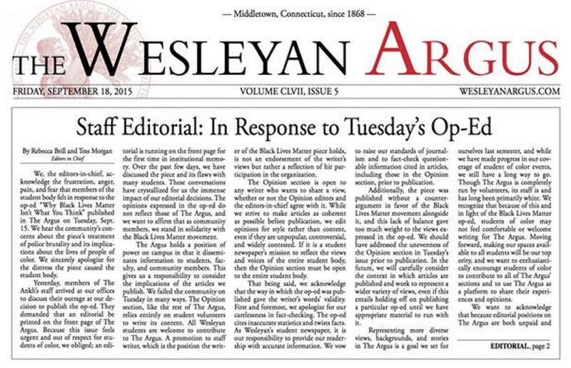e266f442b9f3d Liberal Wesleyan Students Fight to Ban the Free Press