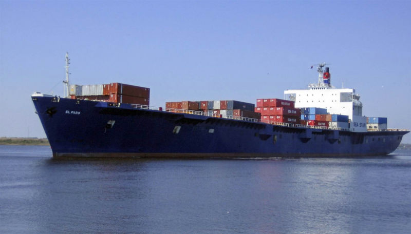 Giant Container Ship Lost in Bermuda Triangle During Hurricane Joaquin