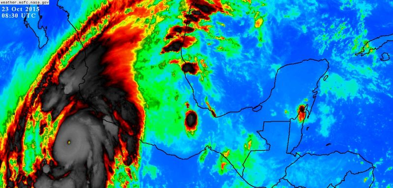 At 200 MPH Hurricane Patricia Is Now the Strongest Tropical