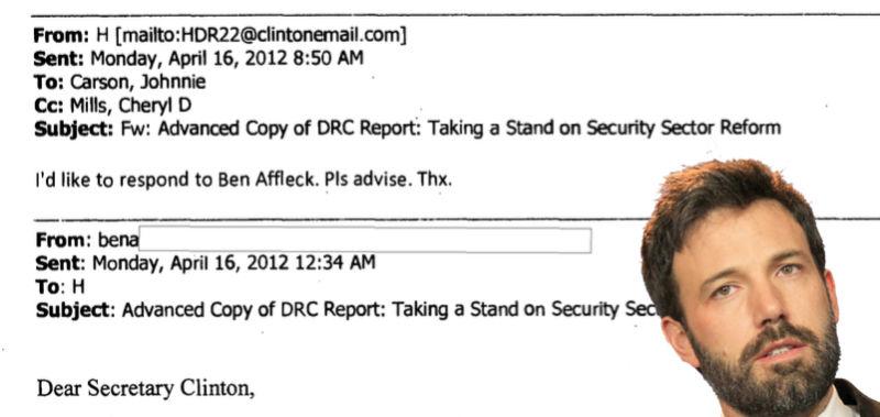 High Quality Ben Affleck Knew Hillary Clintonu0027s Secret Email Address
