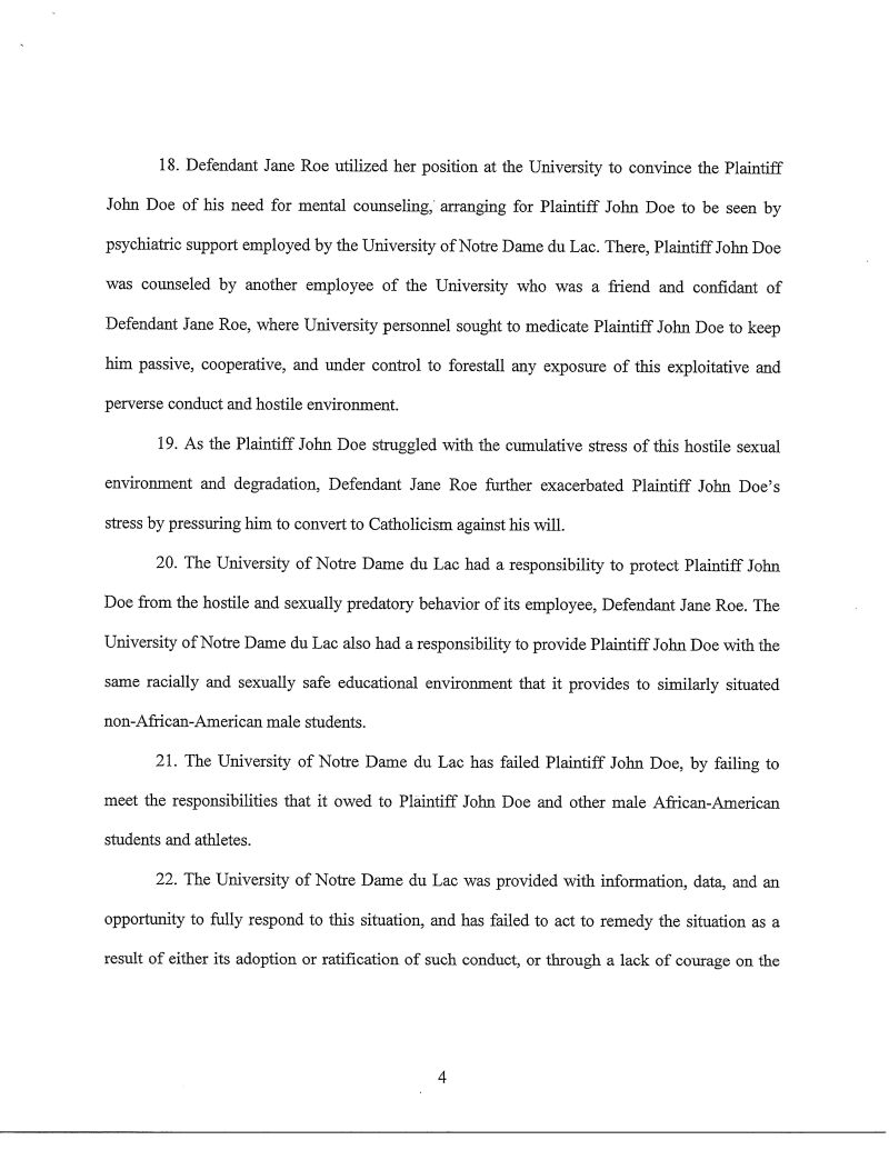 Ad Analysis Essay Example Complaint Against Notre Dame Alleging That Tutor Forced Studentathletes To  Have Sex With Her Daughter Analogy Essay Topics also Violence In The Media Essay Complaint Against Notre Dame Alleging That Tutor Forced Student  Essays By Toni Morrison