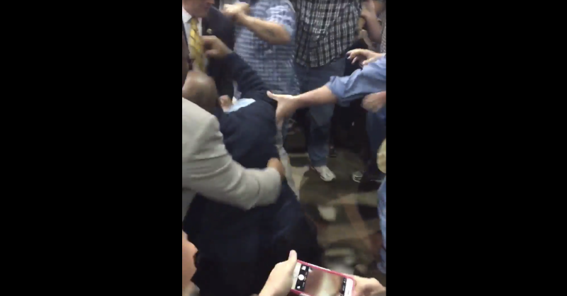 Donald Trump Supporters Filmed Kicking, Punching Black Lives Matter Protester at Rally in Alabama