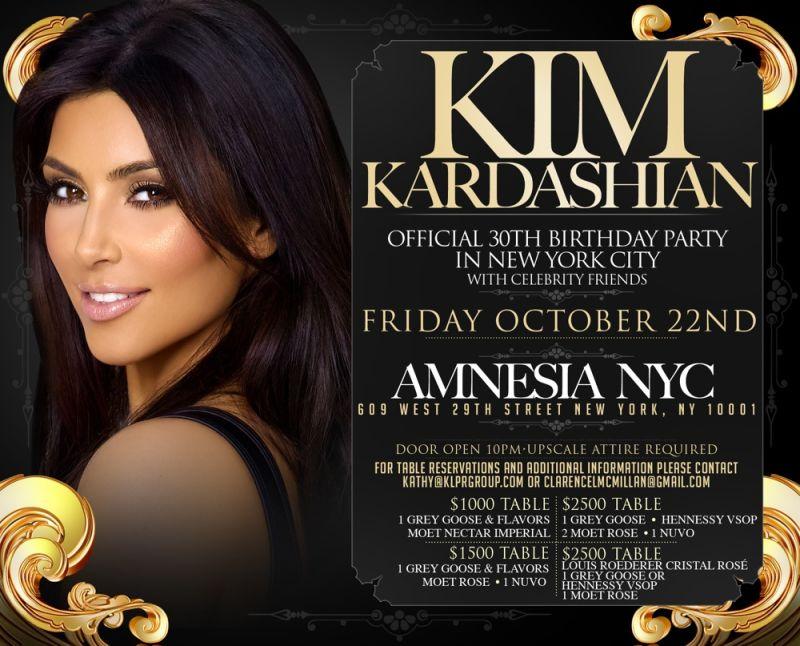 Youre Invited to Kim Kardashians Birthday Party For Only 2500 – Kim Kardashian Birthday Card