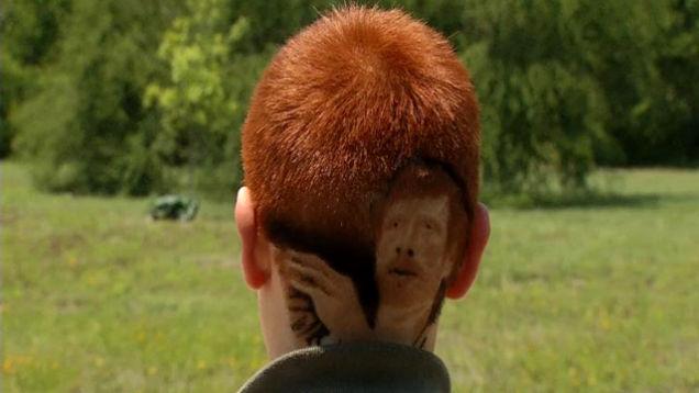 Kid Disciplined For Having An Insanely Detailed Matt Bonner Haircut