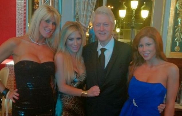 Progressive Snapshot Hack >> Bill Clinton Caught on Camera Hanging Out with Porn Stars ...