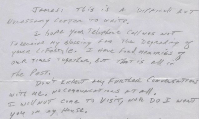 goodbye dad father disowns gay son with shockingly heartless letter