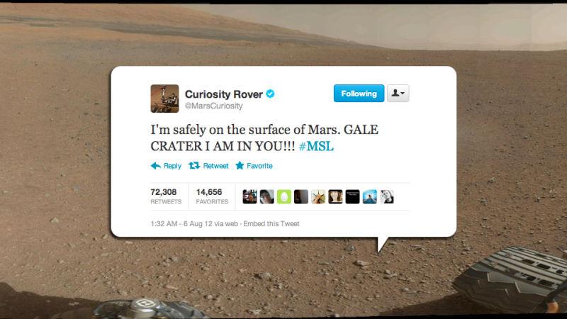 Resultado de imagen para mars curiosity nasa twitter