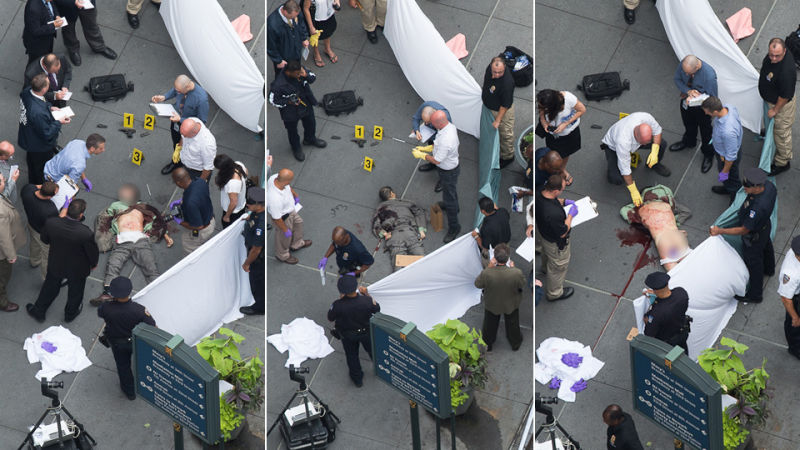 graphic photos of alleged empire state building shooter