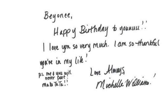 an analysis of beyoncé's celebstudded birthday card who loves, Birthday card