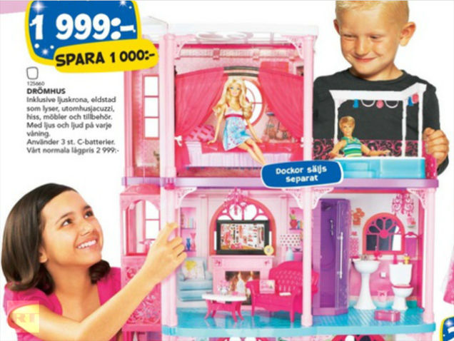 Toys For Boys Advertisement : Up is down and girls are boys swedish toy ad flips the