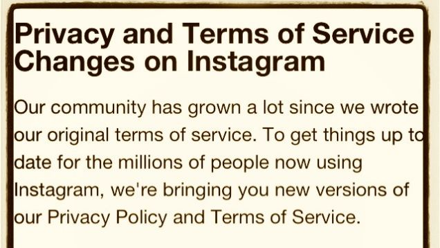 Instagrams Absurd New Terms Of Use Agreement Is Already Being