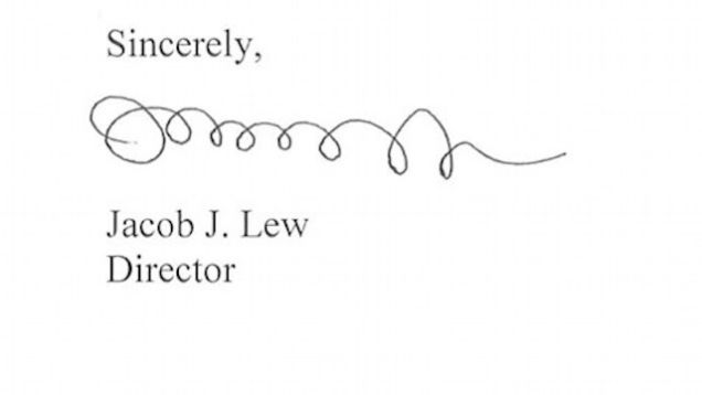 Jack Lew's Signature Loopy, But What Does Yours Say About You?