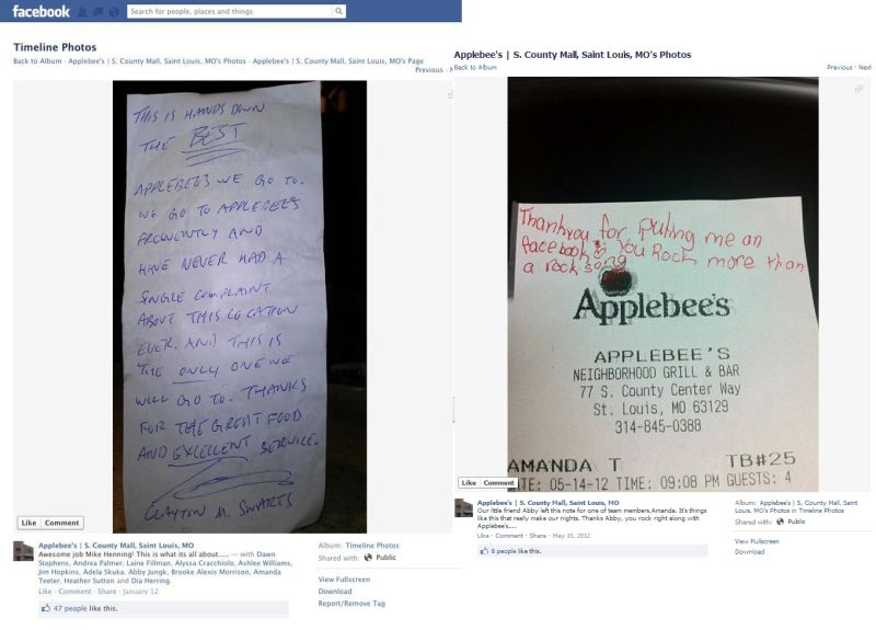 applebee s responds to fired server scandal claims waitress