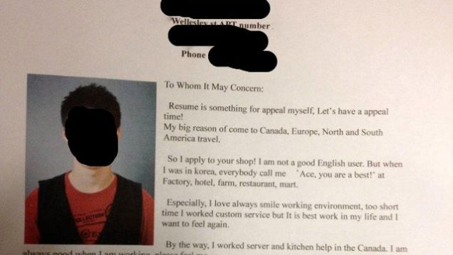This south korean job seeker 39 s emotional cover letter puts for Kick ass cover letters