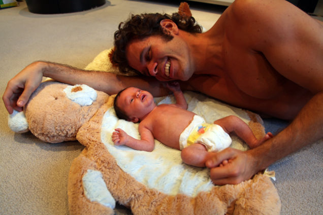 Perez Hilton Poses Nekkid With His New Baby Making A Very