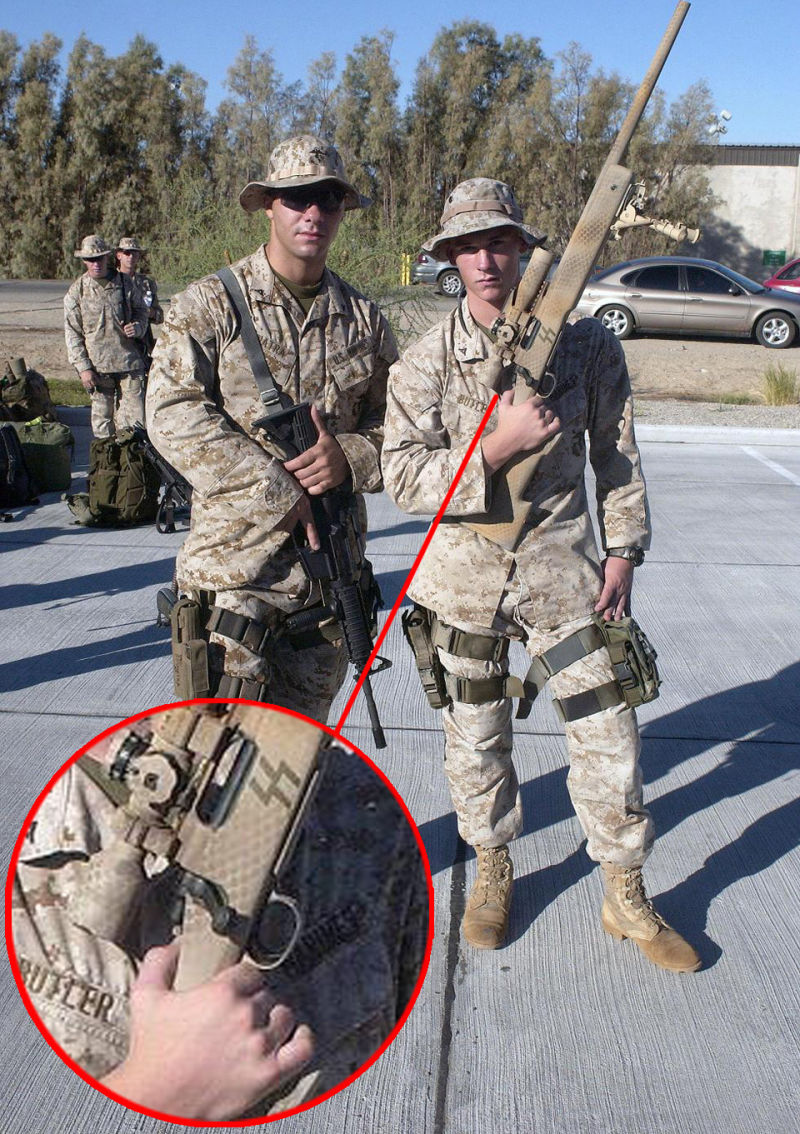 Us marines sorry for posing with nazi flag nazi rifle biocorpaavc Image collections
