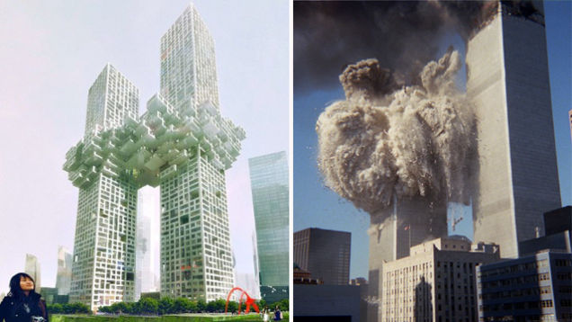 New twin towers unveiled as world39s jaw hits floor for Twin towers how many floors