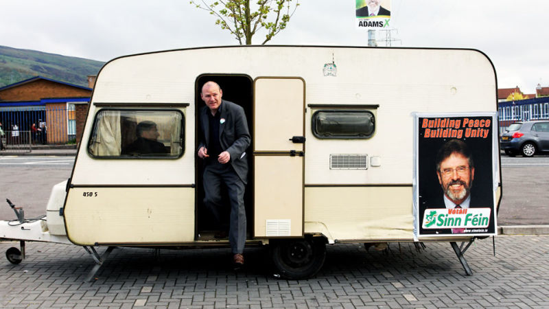 New Irish Traveller Bridy Purcell And Her Family In Their Caravan On The