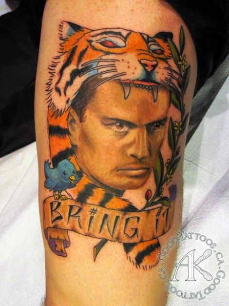 Some idiot actually got a charlie sheen tiger blood tattoo for Are tattoos bad for your blood
