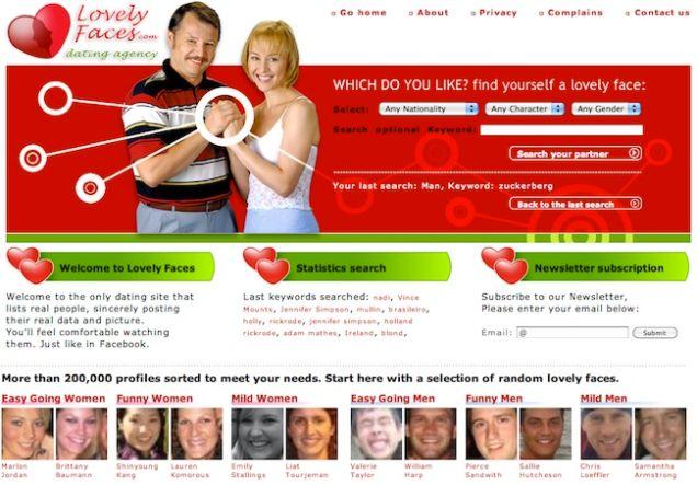 feature internet facebook profiles scraped fake dating site