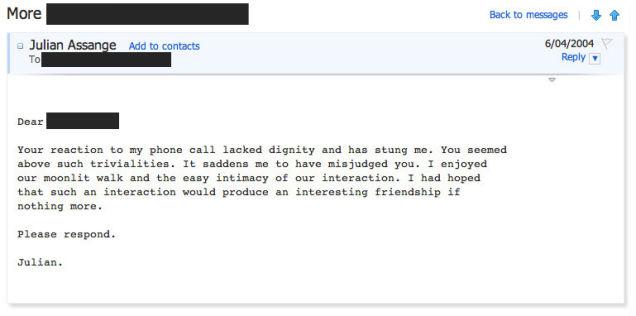 The Creepy, Lovesick Emails of Julian Assange