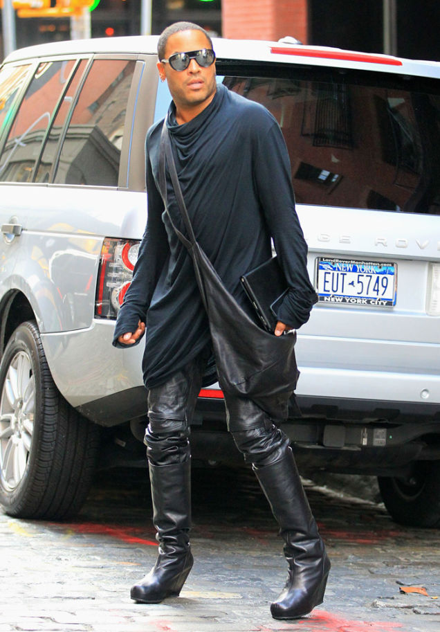 Lenny Kravitz's High Heels: One Wobbly Step for a Man, One Giant ...