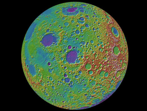 NASA Completes First Full Topographic Map Of The Moon - Nasa topographic map