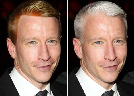 Anderson Cooper Natural Hair Color