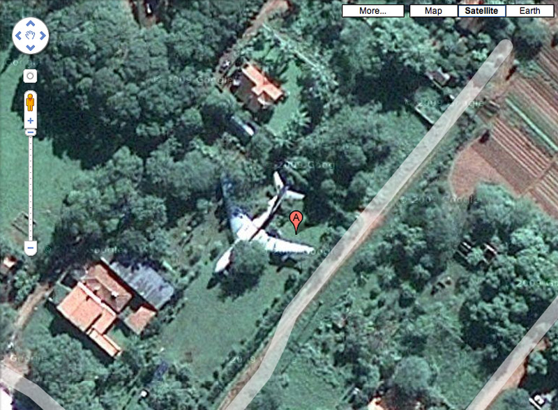 More Mystery Airplanes On Google Maps In A Yard Under The Sea - Google map satellite