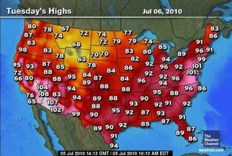 Us Current Temperature Map Globalinterco - Us current temps map