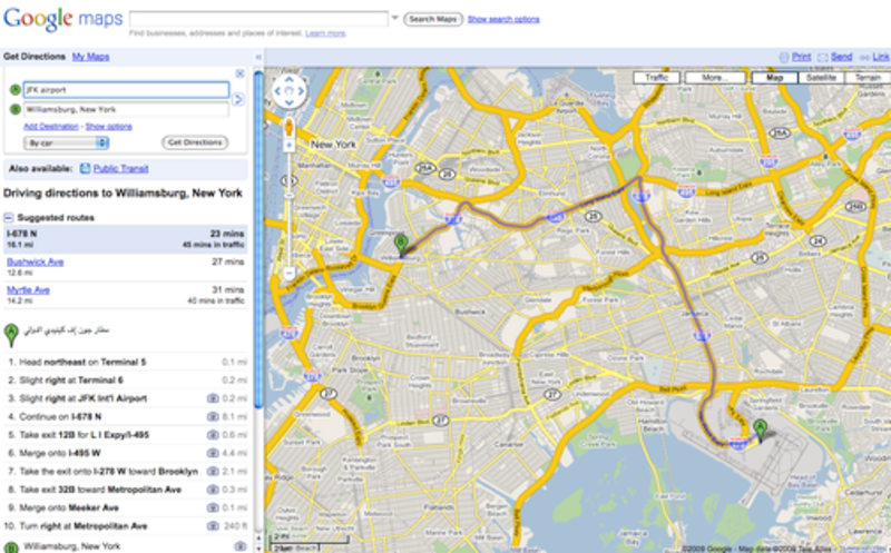 Google maps gawker google thinks all new yorkers who fly into jfk speak arabic gumiabroncs Gallery