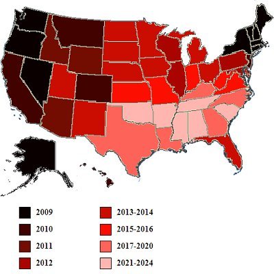 New Map Shows Plague Of Gay Marriage Spreading Across Land - Map of same sex marriage in the us