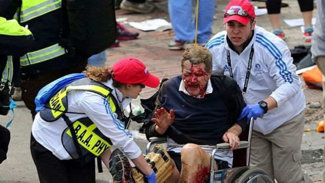 Haunting photos from the Boston Marathon bombing victims pictures
