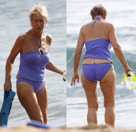 Helen mirren in bikini bathing suit