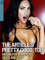 Megan fox giving a blowjob