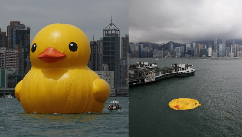 Giant Rubber Duck Found Deflated Under Mysterious