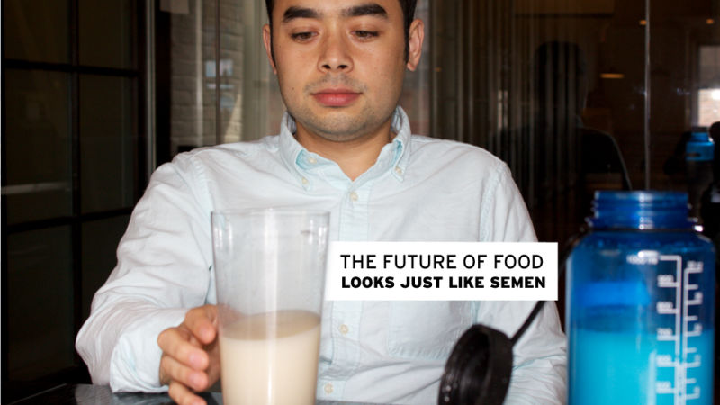 we drank soylent the weird food of the future