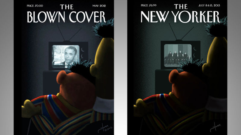 that bert  u0026 ernie new yorker cover has been on the internet for a year