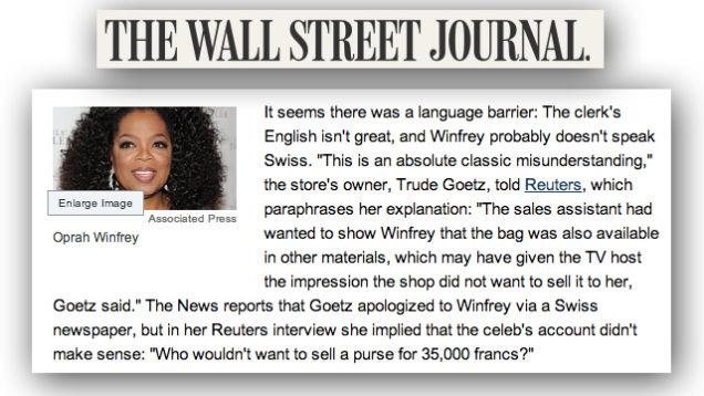 """Attention <em>Wall Street Journal</em>: """"Swiss"""" Is Not a Language"""