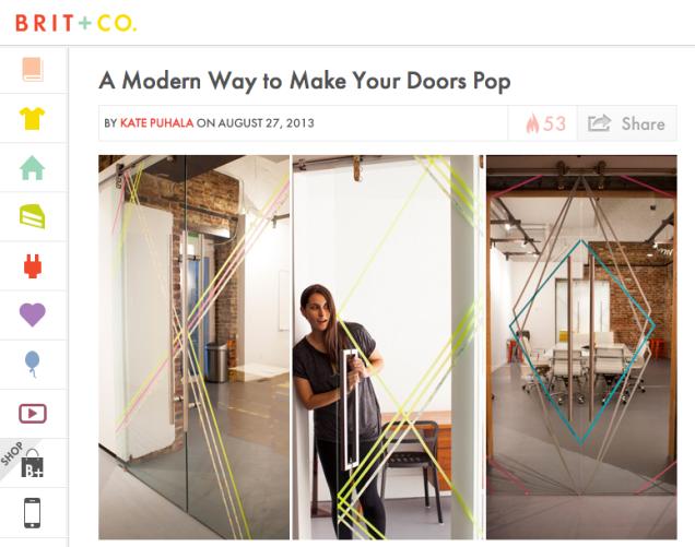 Brit Morin Finds Million Dollar Idea After Walking Into Glass Door