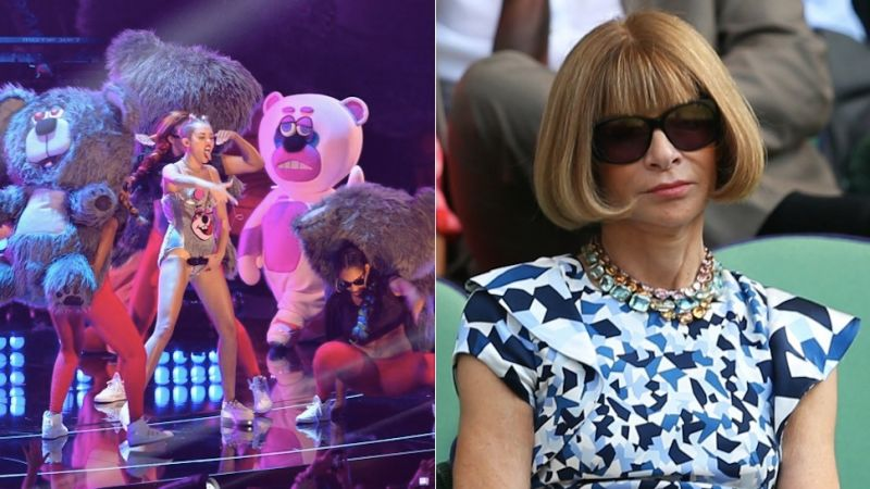 anna wintour cancels a miley cyrus vogue cover due to twerking bears anna wintour office google